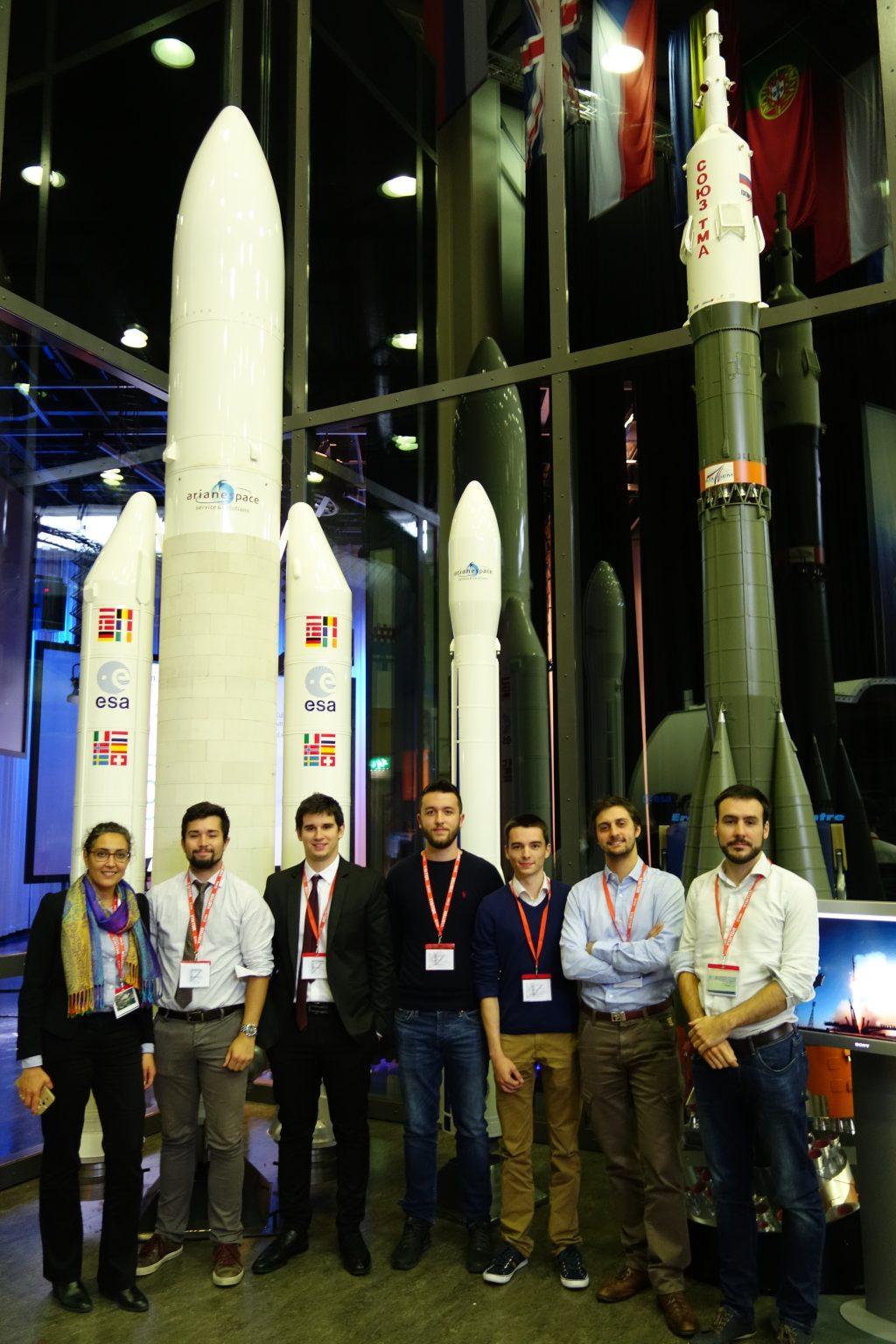 Une partie de l'équipe qui défendu le projet montpelliérain, du 1er au 5 mai, le seul en France à avoir été retenu. Photo ESA.