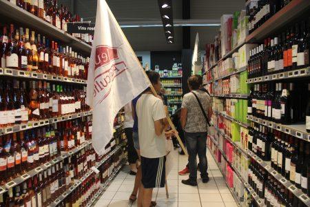 Très mobilisée, en crise à cause des aléas climatiques, La profession a mené des opérations de contrôle de l'origine du vin, notamment celui en bib (bag in box). Photo : DR.