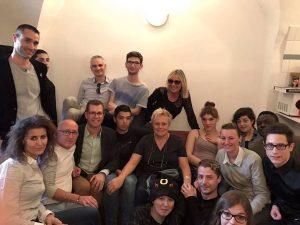 Muriel Robin et les jeunes du Refuge à Montpellier