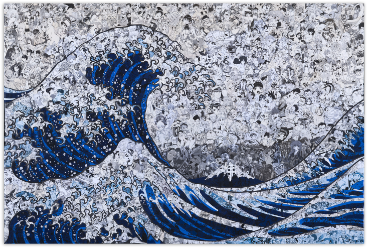 La grande vague de Kanagawa revue par les ciseaux de Mr Garcin