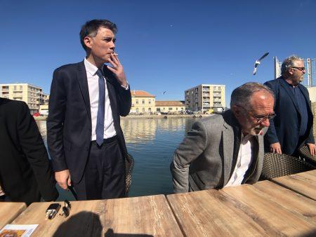 Olivier Faure et Eric Andrieu en campagne pour les élections européeennes 2019