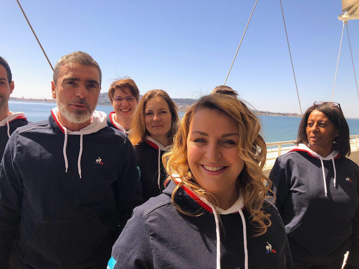 Angélique Le Jeune coach de l'Équipe de France de massage