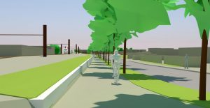 Frontignan projet de liaison centre-ville gare SNCF par piste cyclable
