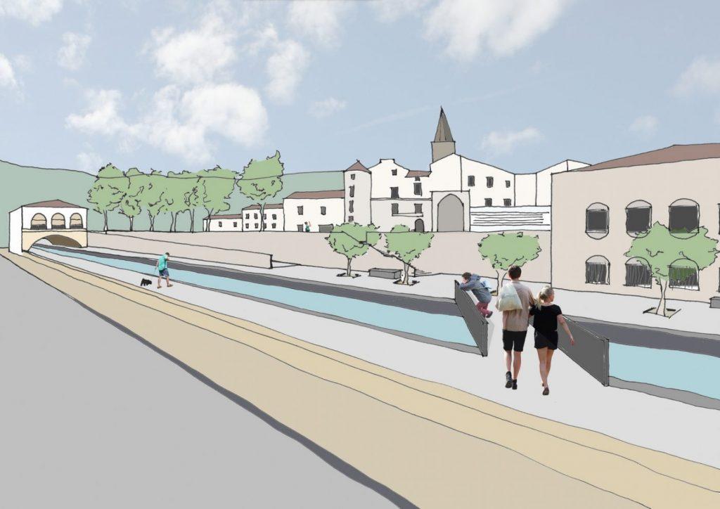 Proposition architecturale d'aménagement du Jaur à Saint-Pons de Thomières