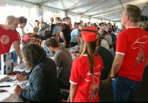 Dédicaces au Festival de Bande dessinée de Sérignan