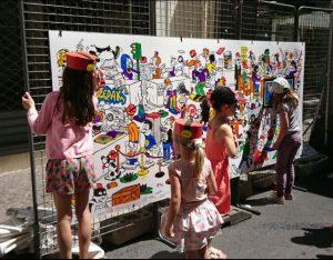 atelier coloriage au Festival de Bande dessinée de Sérignan